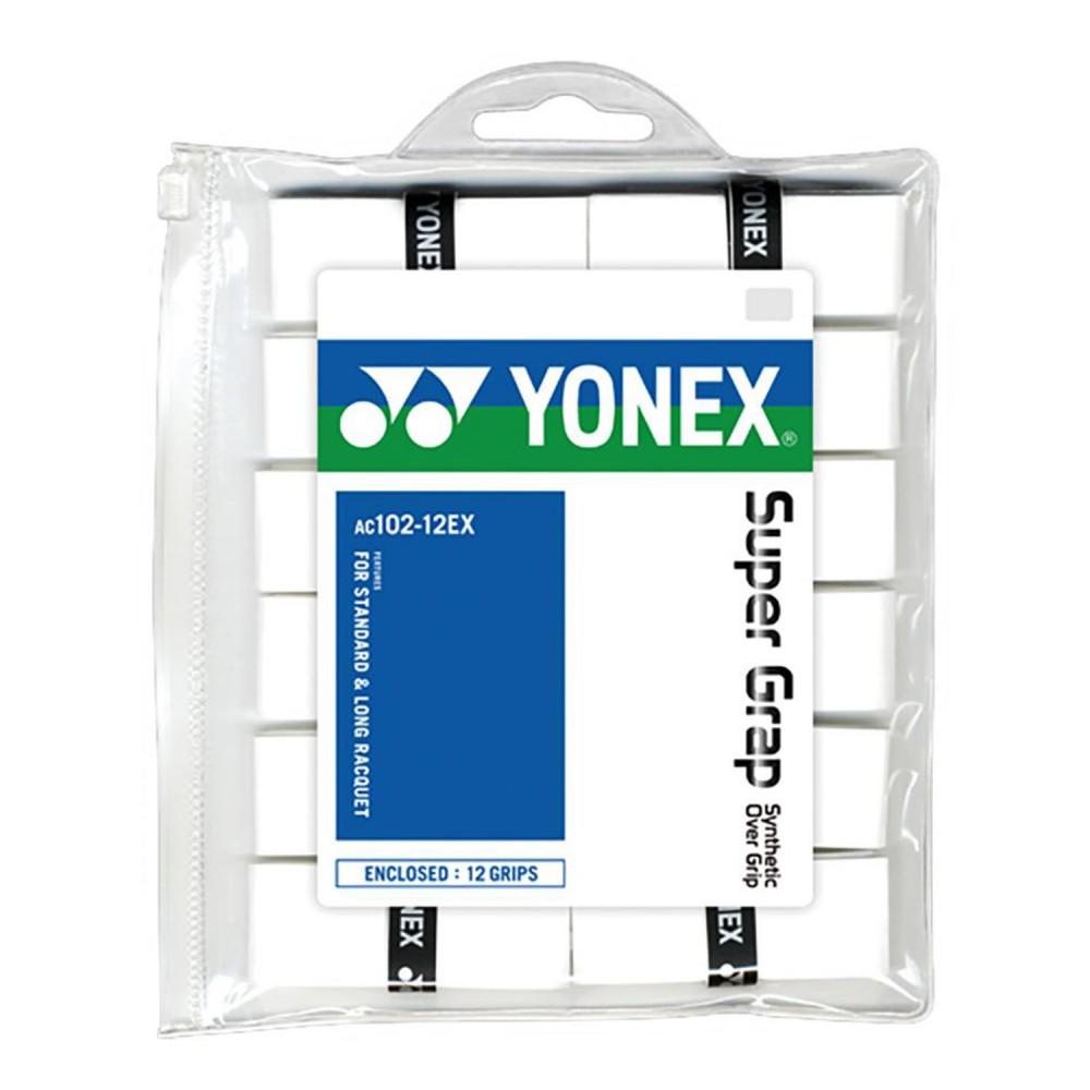 ΑΝΤΙΔΡΩΤΙΚΗ ΛΑΒΗ ΡΑΚΕΤΑΣ ΤΕΝΝΙΣ YONEX SUPER GRAP X12 WHITE