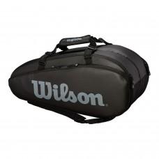 ΣΑΚΟΣ ΤΕΝΝΙΣ WILSON TOUR 2 COMPARTMENT 9 PACK LARGE TENNIS BAG BLACK