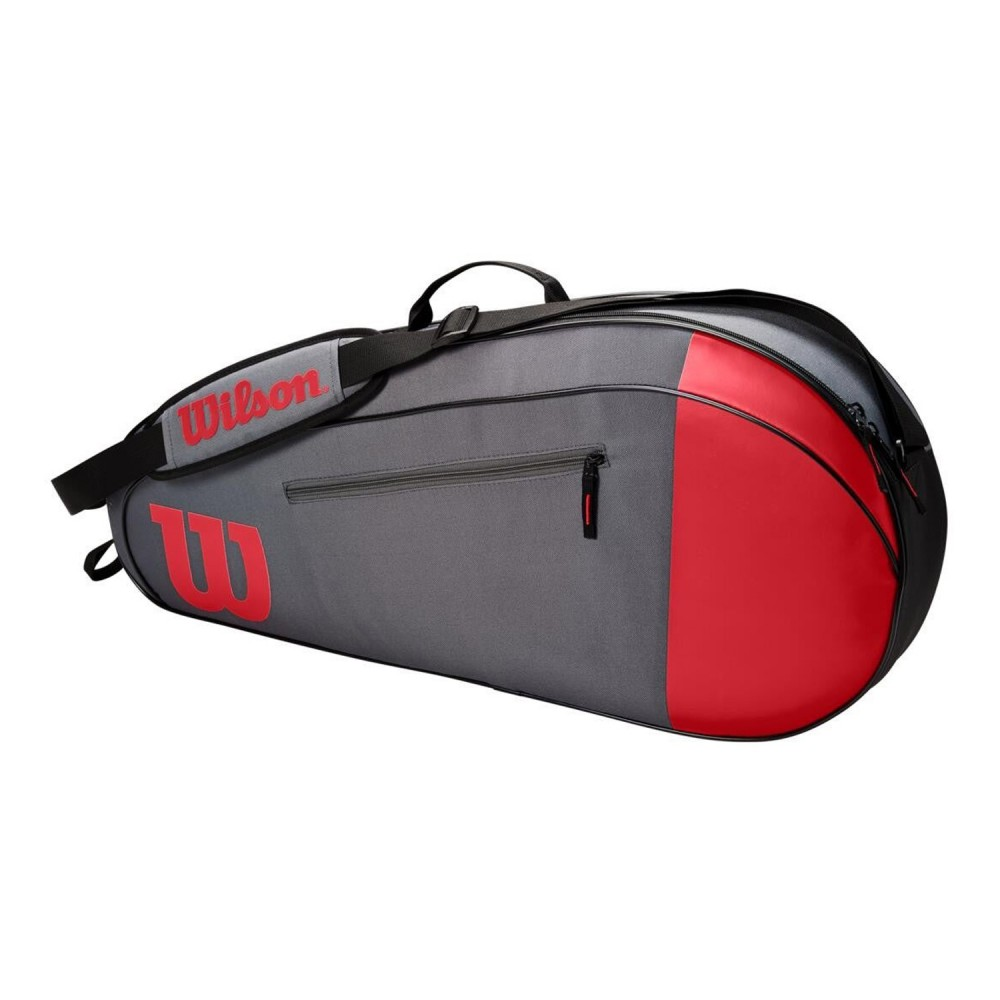 ΣΑΚΟΣ ΤΕΝΝΙΣ WILSON TEAM 3 PACK TENNIS BAG RED-GREY