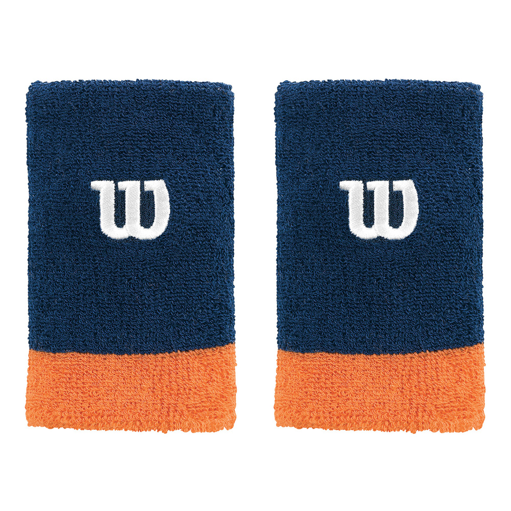 WILSON EXTRA WIDE WRISTBAND NAVY