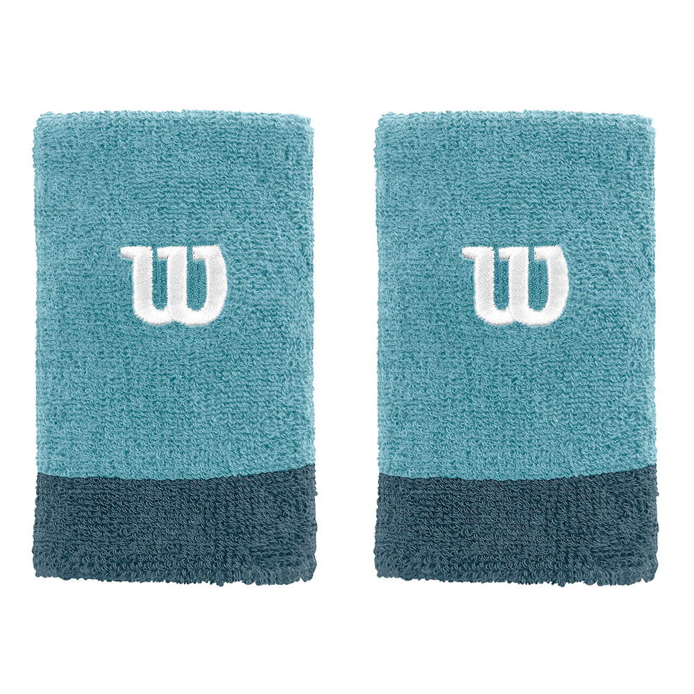 WILSON EXTRA WIDE WRISTBAND WATER BLUE