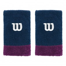WILSON EXTRA WIDE WRISTBAND NAVY DARK